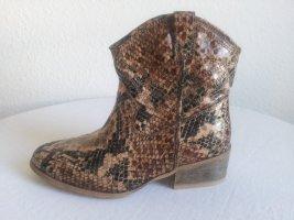 Schlangenleder - Booties von Funky Shoes