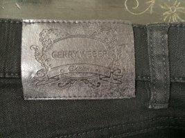 Gerry Weber Pantalón de cintura alta negro Algodón