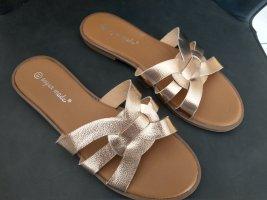 Super Mode Heel Pantolettes gold-colored
