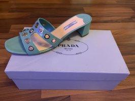 Prada Flip-Flop Sandals turquoise