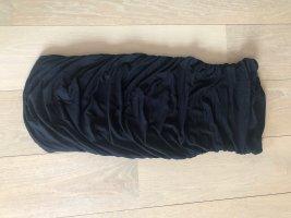 Bandeaujurk zwart Gemengd weefsel