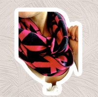 Michael Kors Bufanda tubo negro-rosa