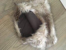 H&M Bufanda tubo marrón claro-taupe