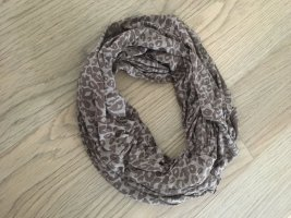 Pieces Tube Scarf grey brown-taupe