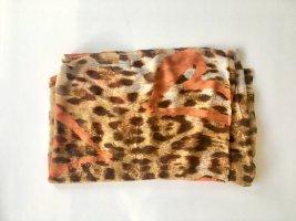 Schlauchschal mit Animal Print Leo Muster orange braun