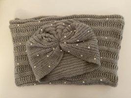 Schlauchschal + Mütze mit Perlen