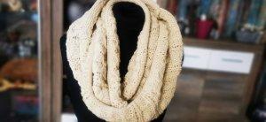schlauchschal Strickschal Schal beige