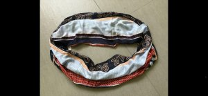 Cecil Tube Scarf baby blue-red