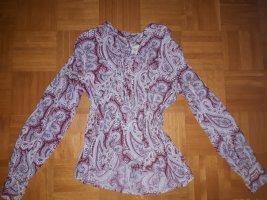 Gant Tie-neck Blouse dusky pink-dark blue