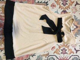 Miss Selfridge Top à volants rosé-noir tissu mixte