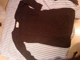 schlichter schöner dunkelgrauer Longpullover HM xs mit Wolle