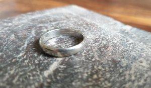 keine Zilveren ring zilver Gemengd weefsel