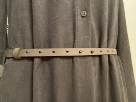 American Vintage Leather Belt light grey leather
