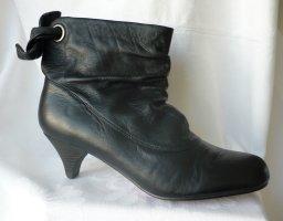 Buffalo London Slip-on Booties black leather
