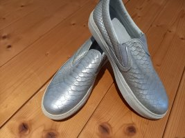 Bronx Sneaker slip-on argento Tessuto misto