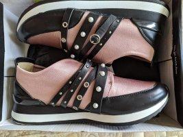 Sixtyseven Zapatillas deslizantes negro-color rosa dorado