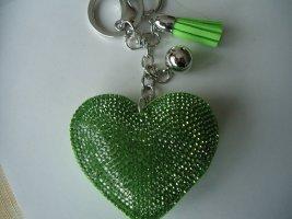 Schlüssel Anhänger grün Herz
