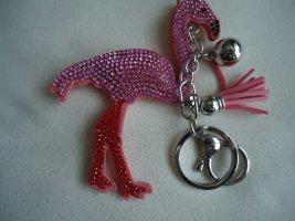 Schlüssel-Taschenanhänger Flamingo rosa