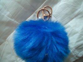 Schlüsselanhänger dunkelblau Perle