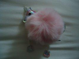 Portachiavi rosa-bianco