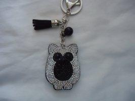 Porte-clés noir-gris clair