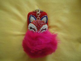 Schlüsselanhänger Fuchs pink