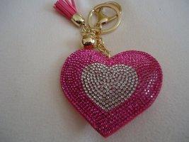 Porte-clés gris clair-rose