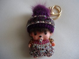 Porte-clés violet-rose