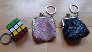 Porte-clés noir-or rose