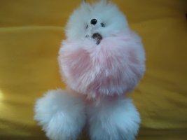 Portachiavi bianco-rosa