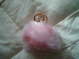Schlüsselanhänger rosa Perle