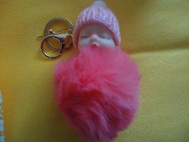 Portachiavi magenta-rosa pallido