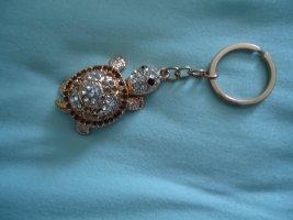 Schlüsselanhänger Schildkröte beige -braun