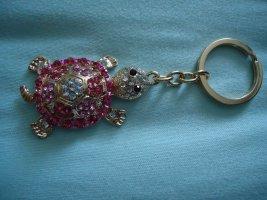 Schlüsselanhänger Schildkröte Pink