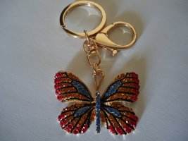 Schlüsselanhänger Schmetterling rot