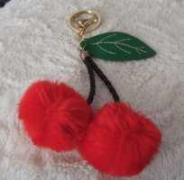 Schlüsselanhänger Taschenanhänger Plüsch Fell Kirsche