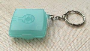 Key Chain pale blue-sage green