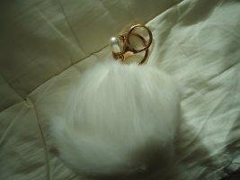 Schlüsselanhänger weiß Perle