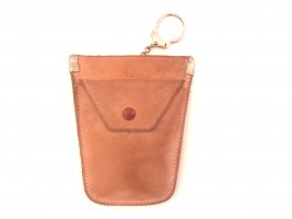 Bree Key Chain beige leather