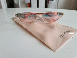 Schmale Katzenaugensonnenbrille in Rosa