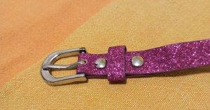 Cinturón de cuero de imitación rosa