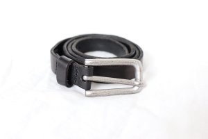 Liebeskind Leather Belt black-silver-colored