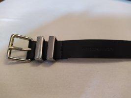 Rebecca Minkoff Leather Belt black-silver-colored leather