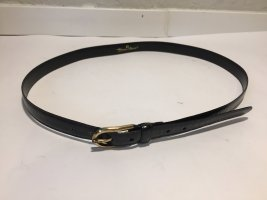 Etienne Aigner Leather Belt black-gold-colored leather