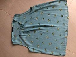 Marks & Spencer Top línea A azul bebé-azul aciano tejido mezclado
