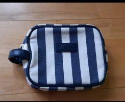 Schminktasche Tasche blau weiß gestreift Neu