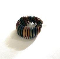 Schmuck Armreifen elastische aus Holz Vintage