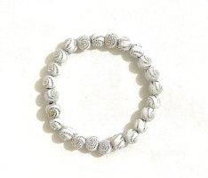 Vintage Bransoletki z perłami biały-srebrny
