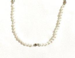 Vintage Neckerchief white-silver-colored