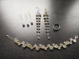 Bjou Brigitte Jewellery Set white-silver-colored